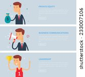 banners for web  private equity ... | Shutterstock .eps vector #233007106