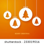 christmas paper card with... | Shutterstock .eps vector #233019016