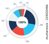 vector pie chart template. ... | Shutterstock .eps vector #233020486