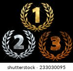 laurels for first three places | Shutterstock .eps vector #233030095