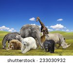 wild animals group | Shutterstock . vector #233030932