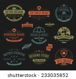 vintage banners and frames hand ... | Shutterstock .eps vector #233035852