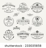 vintage banners and frames hand ... | Shutterstock .eps vector #233035858