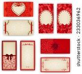 set of elegant templates for... | Shutterstock .eps vector #233036962