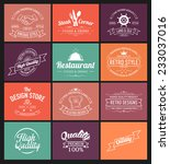 vintage banners and frames hand ... | Shutterstock .eps vector #233037016