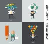 set of flat design concept... | Shutterstock .eps vector #233040385