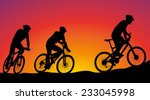 mountain bike race   cyclists... | Shutterstock .eps vector #233045998