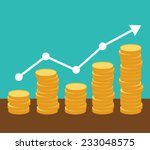 increasing piles of coins with... | Shutterstock .eps vector #233048575
