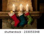 Christmas Stocking On Fireplace ...