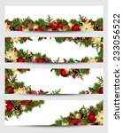vector set of christmas banners ... | Shutterstock .eps vector #233056522