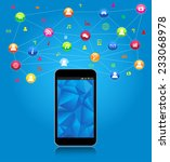 social network and mobility... | Shutterstock .eps vector #233068978