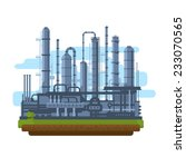 oil production plant ... | Shutterstock .eps vector #233070565