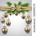 golden christmas balls... | Shutterstock .eps vector #233094172