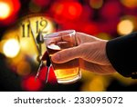 face of new year clock with a... | Shutterstock . vector #233095072