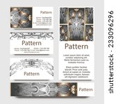 business cards pattern with... | Shutterstock .eps vector #233096296