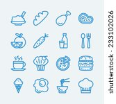 food line icons. vector eps10  | Shutterstock .eps vector #233102026