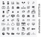 business icons set.... | Shutterstock .eps vector #233107516