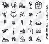 Stock vector pet care icons set illustration eps 233107528