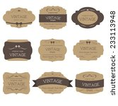 Stock vector set of vintage label and badges old fashion banner illustration vector 233113948