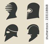 helmet icon set    illustration | Shutterstock . vector #233118868