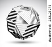 symmetric spherical 3d vector... | Shutterstock .eps vector #233125276