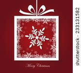 simple merry christmas card ... | Shutterstock .eps vector #233131582