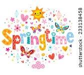 springtime | Shutterstock .eps vector #233138458