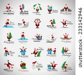 christmas icons and elements... | Shutterstock .eps vector #233142946
