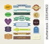 vintage elements set | Shutterstock .eps vector #233149822