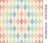 argyle seamless pattern. retro... | Shutterstock .eps vector #233153326