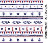 sea vector seamless pattern.... | Shutterstock .eps vector #233159926