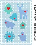 i love winter. collection of... | Shutterstock .eps vector #233162956