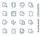document web icons set | Shutterstock .eps vector #233163592