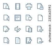 document web icons set | Shutterstock .eps vector #233163592