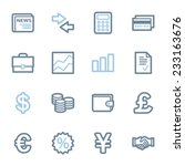 finance web icons set | Shutterstock .eps vector #233163676