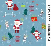 christmas postcard with funny... | Shutterstock .eps vector #233171575
