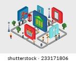 flat 3d isometric interactive... | Shutterstock .eps vector #233171806