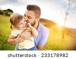 father and daughter in nature | Shutterstock . vector #233178982