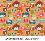 cute owls seamless repeat | Shutterstock .eps vector #23319544