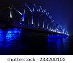 bridge lights in fog in riga ... | Shutterstock . vector #233200102