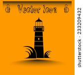 vector icon lighthouse | Shutterstock .eps vector #233209432