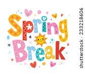 spring break | Shutterstock .eps vector #233218606