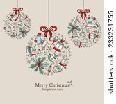christmas card with christmas... | Shutterstock .eps vector #233231755