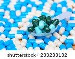 closeup of  green capsules in