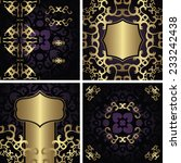 set of modern invitations with...   Shutterstock .eps vector #233242438
