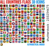 all country flags complete set. ... | Shutterstock . vector #233254675