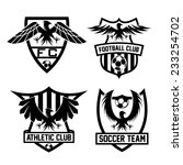 football team crests set with... | Shutterstock .eps vector #233254702