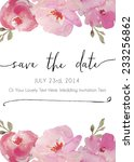 save the date watercolor vector ... | Shutterstock .eps vector #233256862