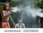 yugambeh aboriginal warrior... | Shutterstock . vector #233258302