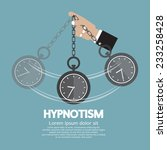 hypnotism by using a clock... | Shutterstock .eps vector #233258428